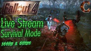 Fallout 4 Live Stream Survival Mode, 1440p 60fps Part 55: Fallout 76 Preparations + Audience Choice!