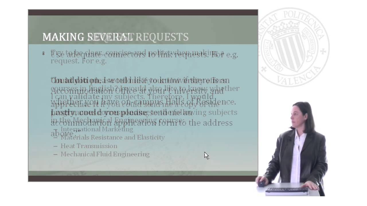 writing a letter of request in english upv