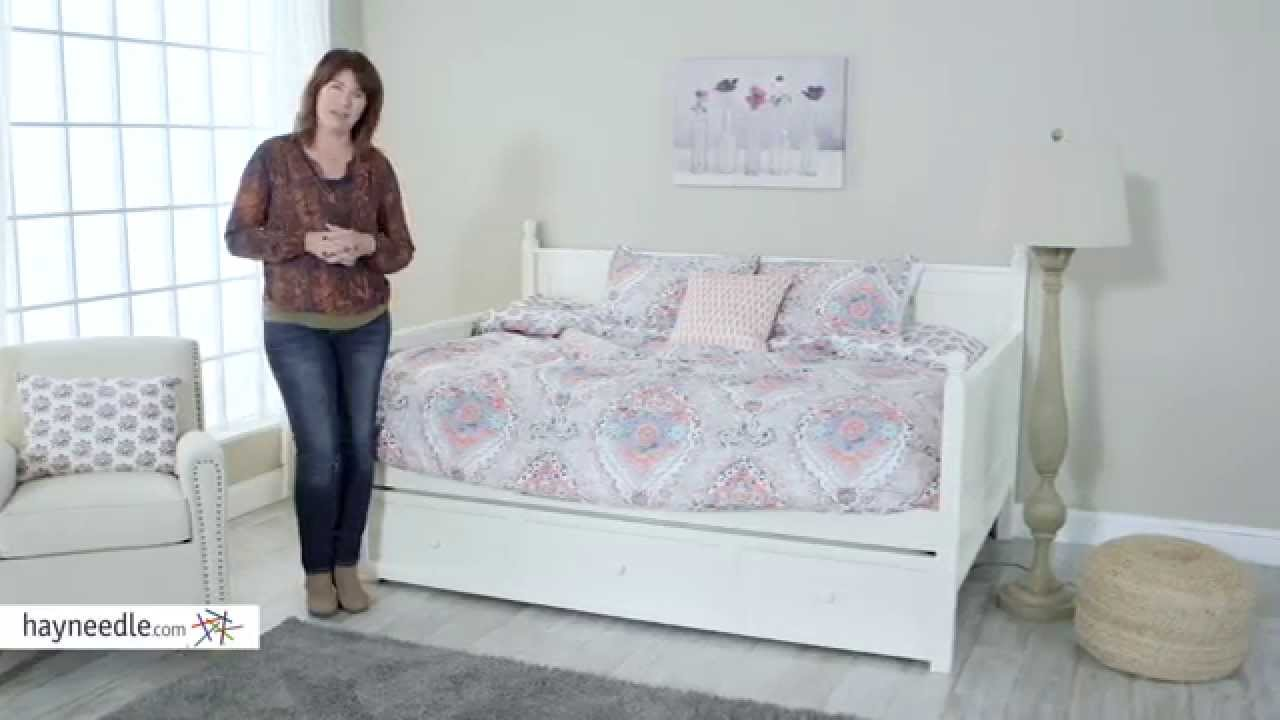 Belham Living Casey Daybed   White   Full   Product Review Video   YouTube