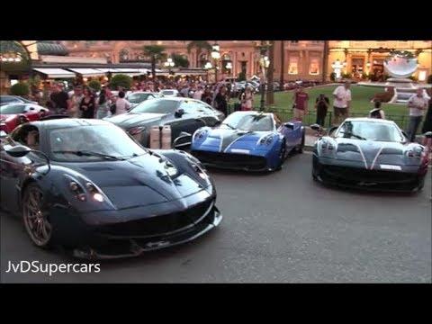 Arab Supercar Invasion In Monaco 2017 - Chiron, 3 Huayra's, Batmobile, Laferrari And More!
