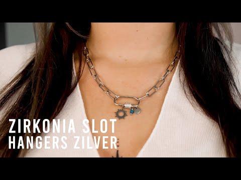 Statement sieraden maken met zirkonia sloten hangers - Zilver