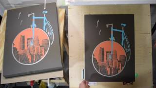 City Bike Keyline Screen Printing - Dogfish Media