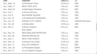 Oakland Raiders 2017 NFL Schedule Predictions
