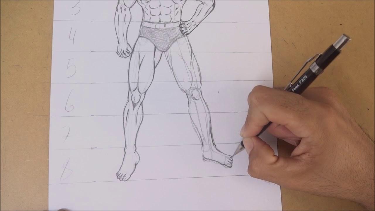 Como Desenhar O Corpo Masculino Parte 4 Pernas E Pes Youtube
