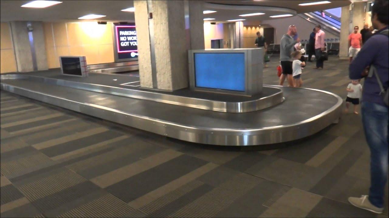 Blue Conveyor Baggage Claims Tampa International Airport