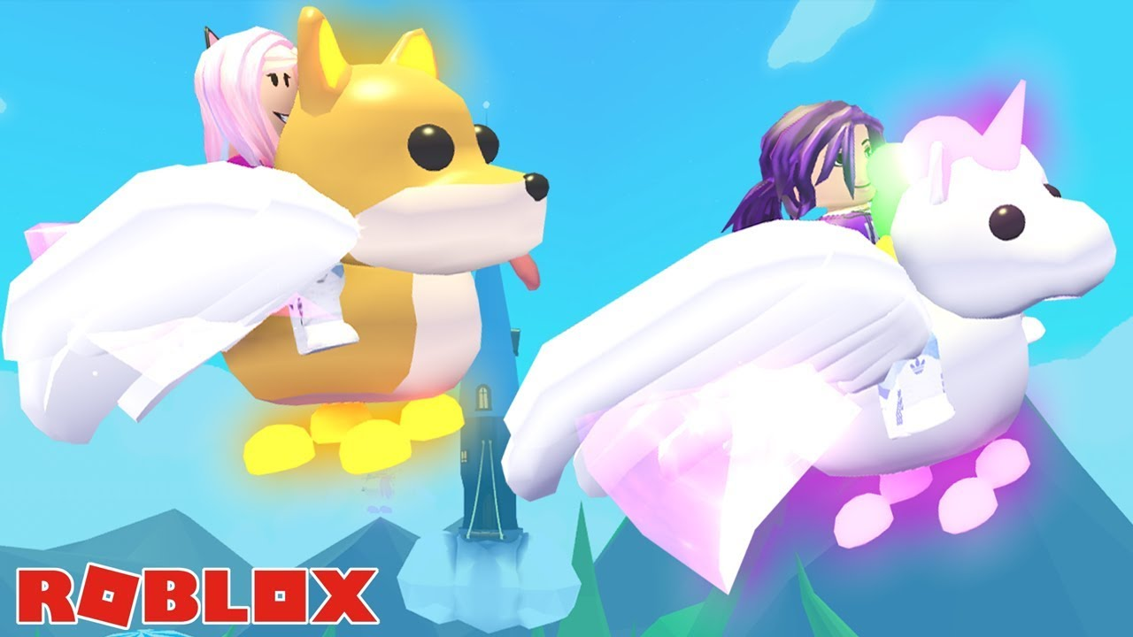 Adopting Flying Neon Pets On Adopt Me Roblox Youtube