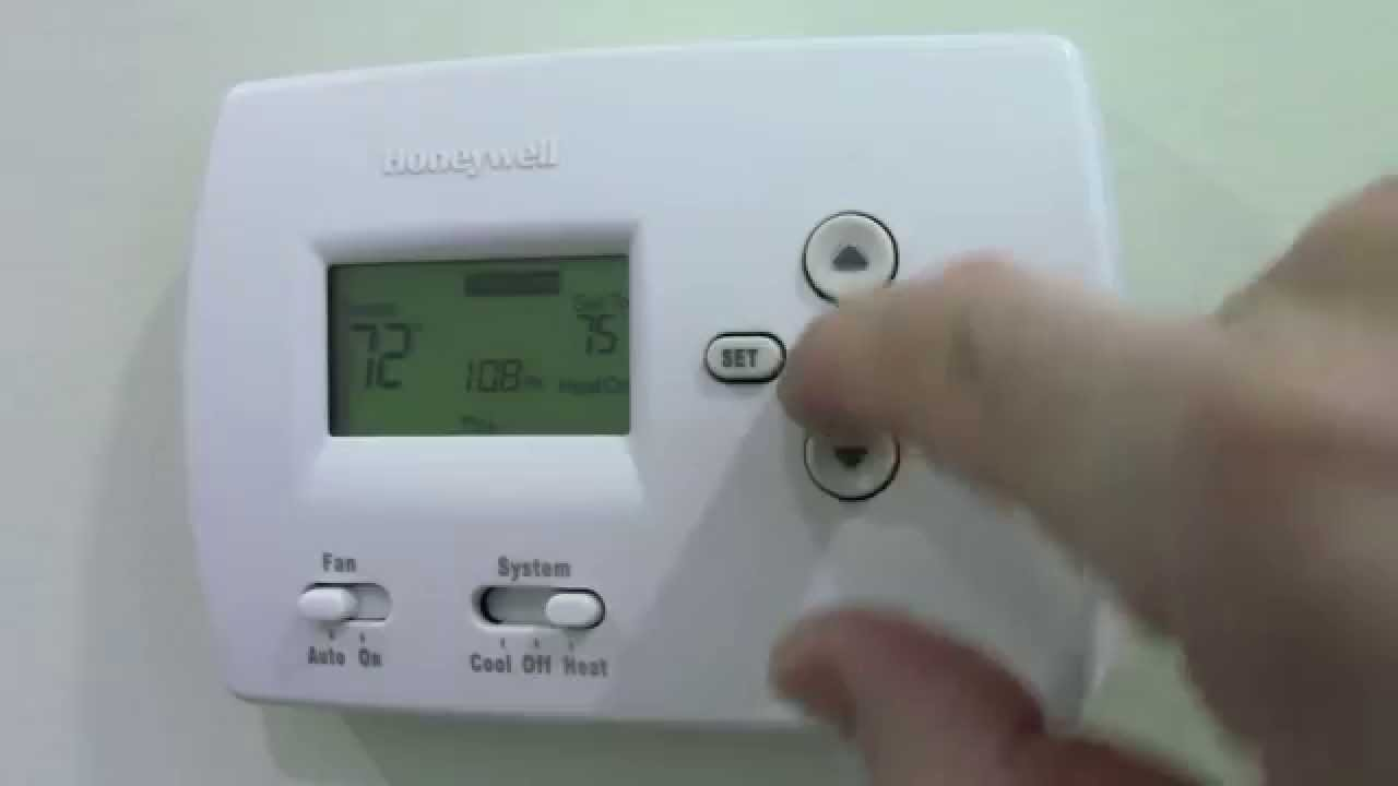 How To Programm A Honeywell Thermostat Furnace Th