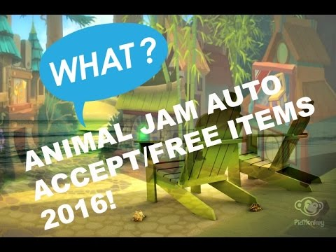 Animal Jam HOW TO GET FREE ITEMS OR/AUTOACCEPT WORKING AS OF 2016