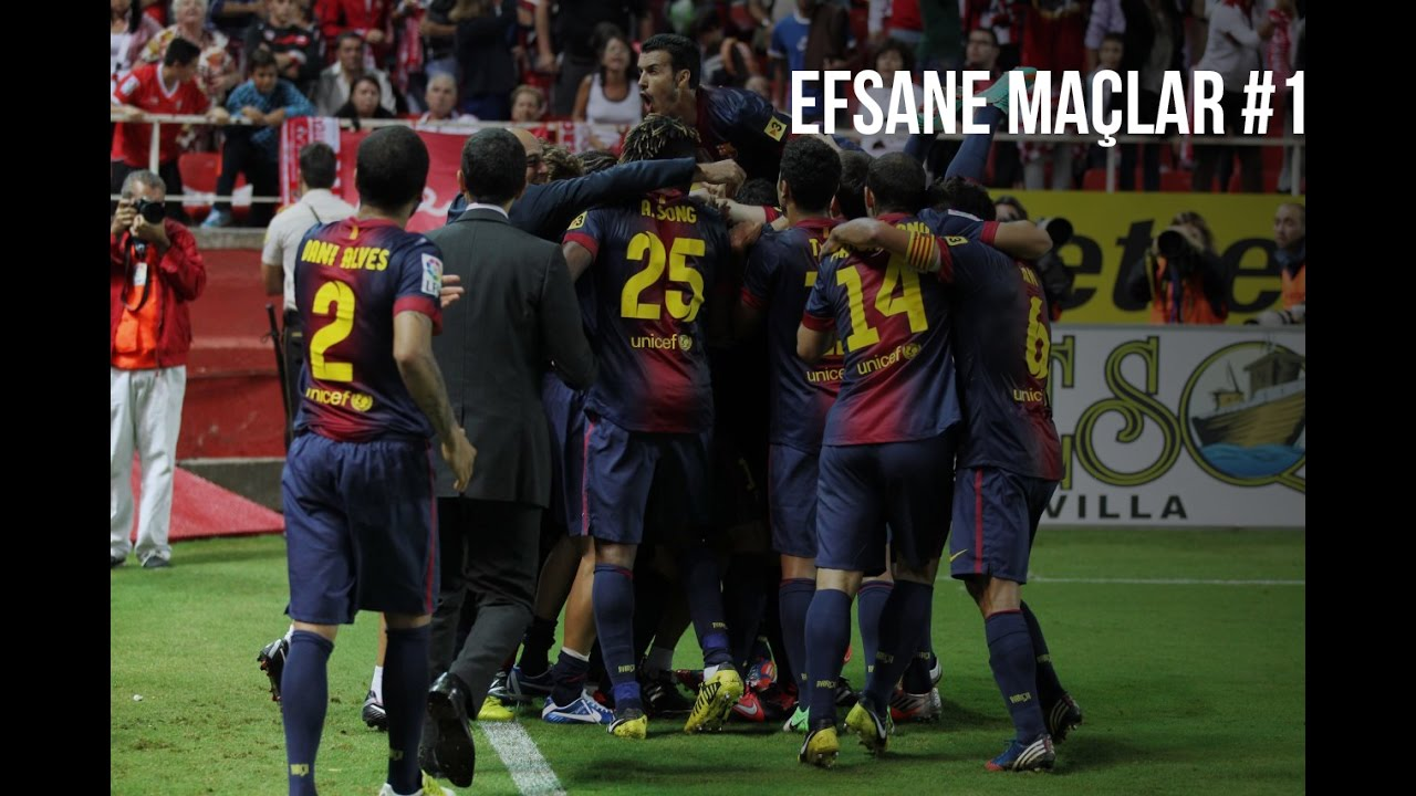 Sevilla FC 2-3 FC Barcelona | 2012-13 | Efsane Maçlar #1 | Türkçe Spiker • HD