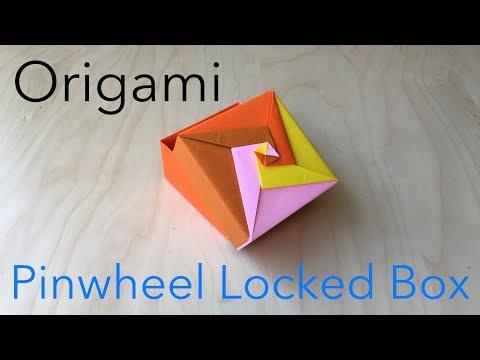 DIY - ORIGAMI PINWHEEL LOCKED BOX