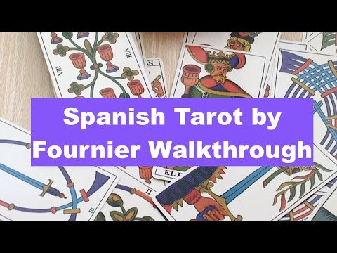 Spanish Tarot by Fournier 2014 flip through