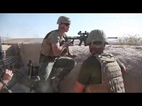 US Marine Sniper Shooting on Taliban Position