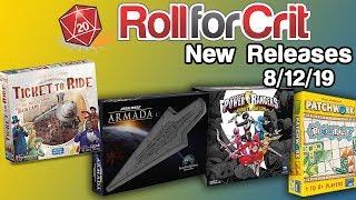 Ticket to Ride, Sierra West, Power Rangers | New Releases 8/12/19