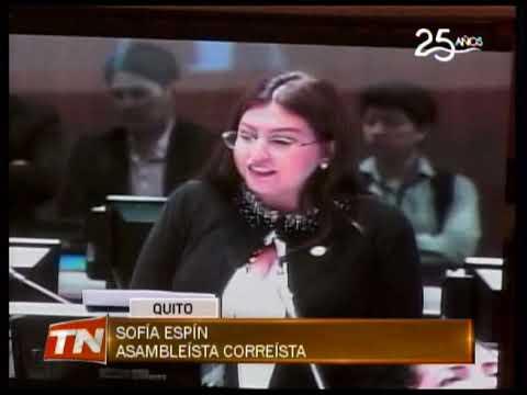 Asamblea analiza investigar a Sofía Espín por visita a procesada en caso Balda