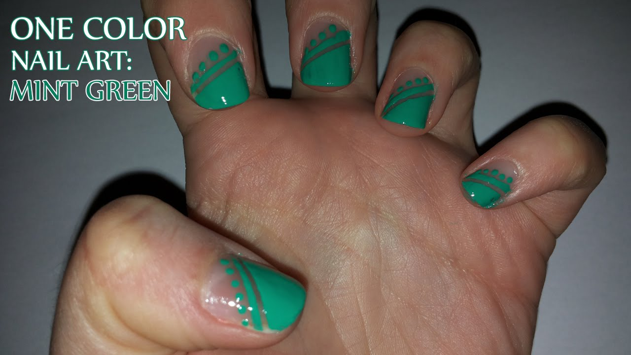 - One Color Nail Art: Mint Green - YouTube