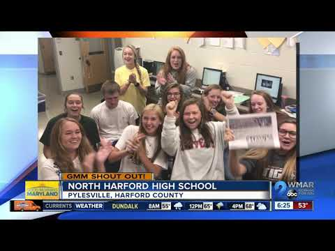 Good morning from North Harford High School!