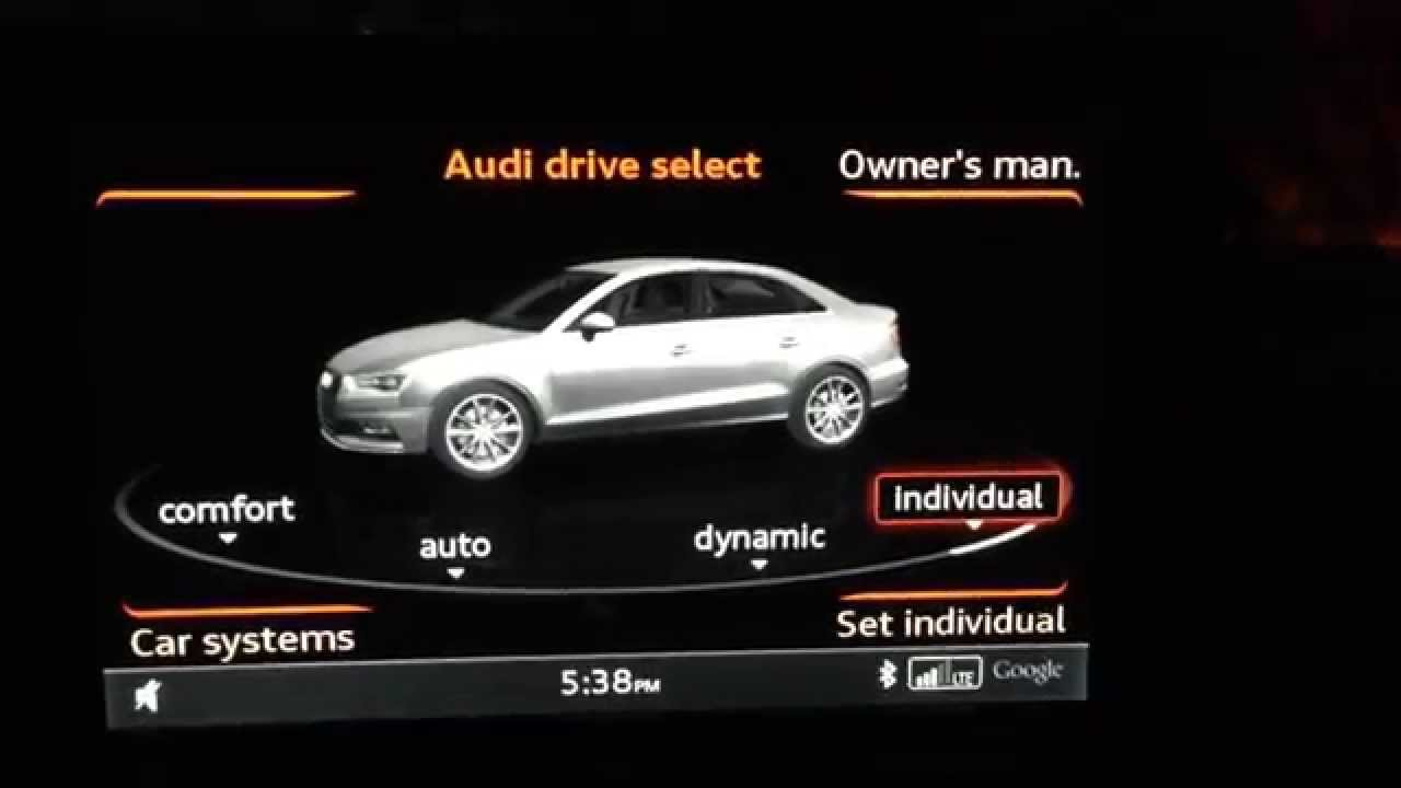 audi drive select overview for a3 s3 youtube. Black Bedroom Furniture Sets. Home Design Ideas