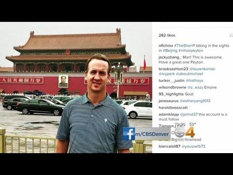 Peyton Manning Tours China, Promotes NFL
