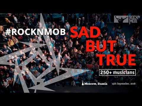 Watch A Rock Flash Mob Cover Metallica's Sad But True In Moscow