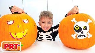 Vlad e Nikita fazem uma festa de Halloween