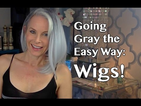 Going Gray The Easy Way Wigs Youtube