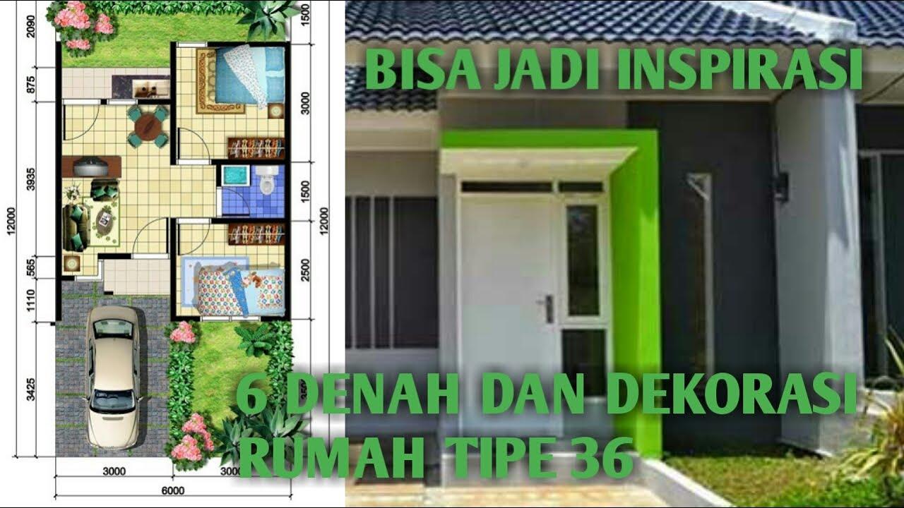 6 Desain Denah Rumah Type 36 Dengan 2 Kamar Tidur 6x10 6x12 Meter Youtube