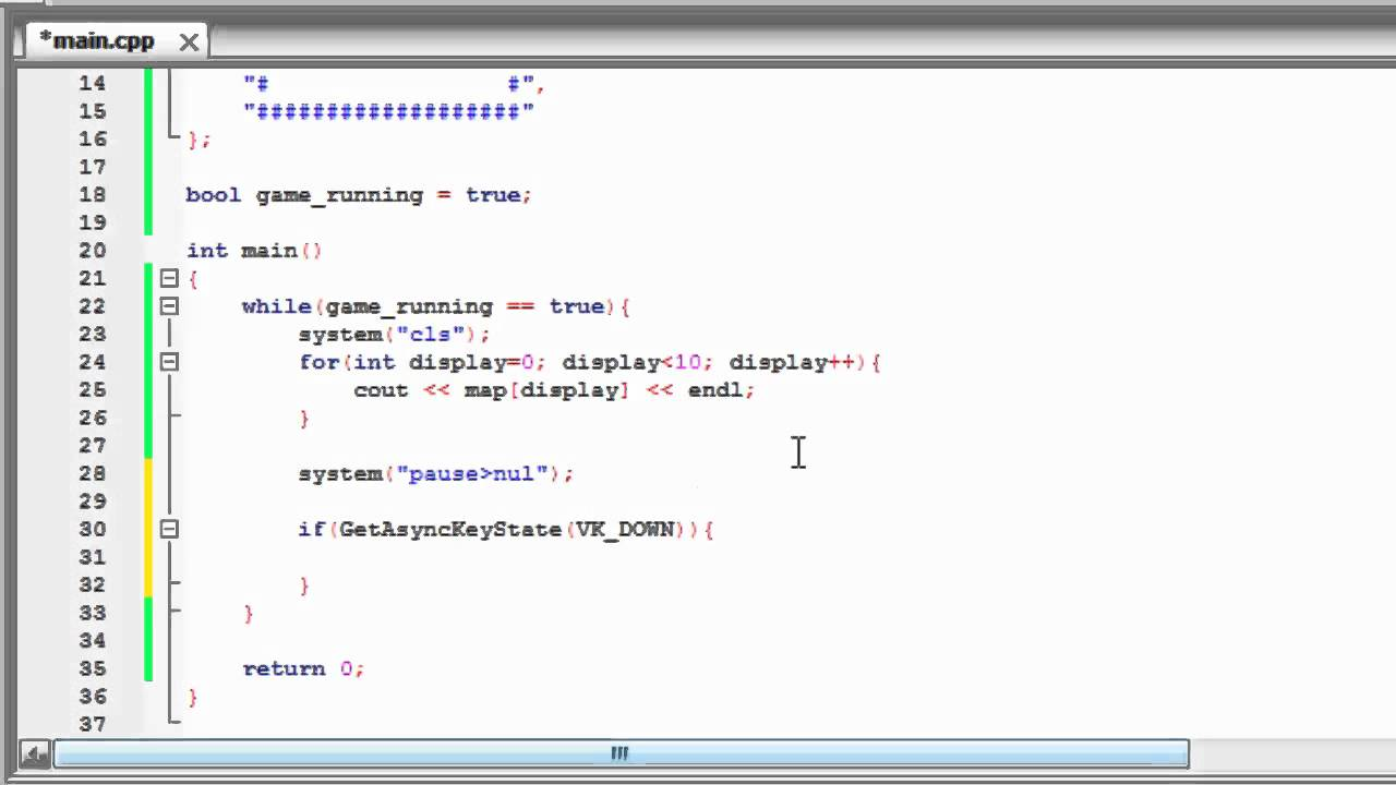 Snake Game in C++ Console - Game Programming by Mubarak Bin