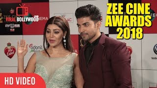 Gurmeet Choudhary With Spouse Debina Bonnerjee At Zee Cine Awards 2018 | 30th December 2017