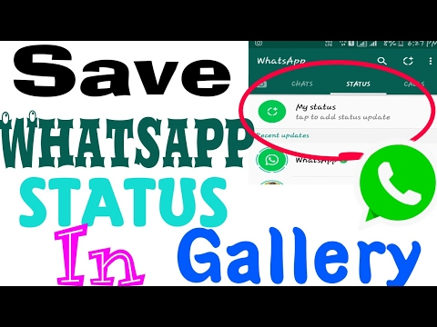 how to save whatsapp status in gallery youtube. Black Bedroom Furniture Sets. Home Design Ideas