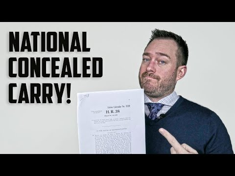 National Concealed Carry Reciprocity (H.R. 38 & S. 446)