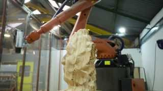 CNC robotic tree sculpting - Awesome time lapse!