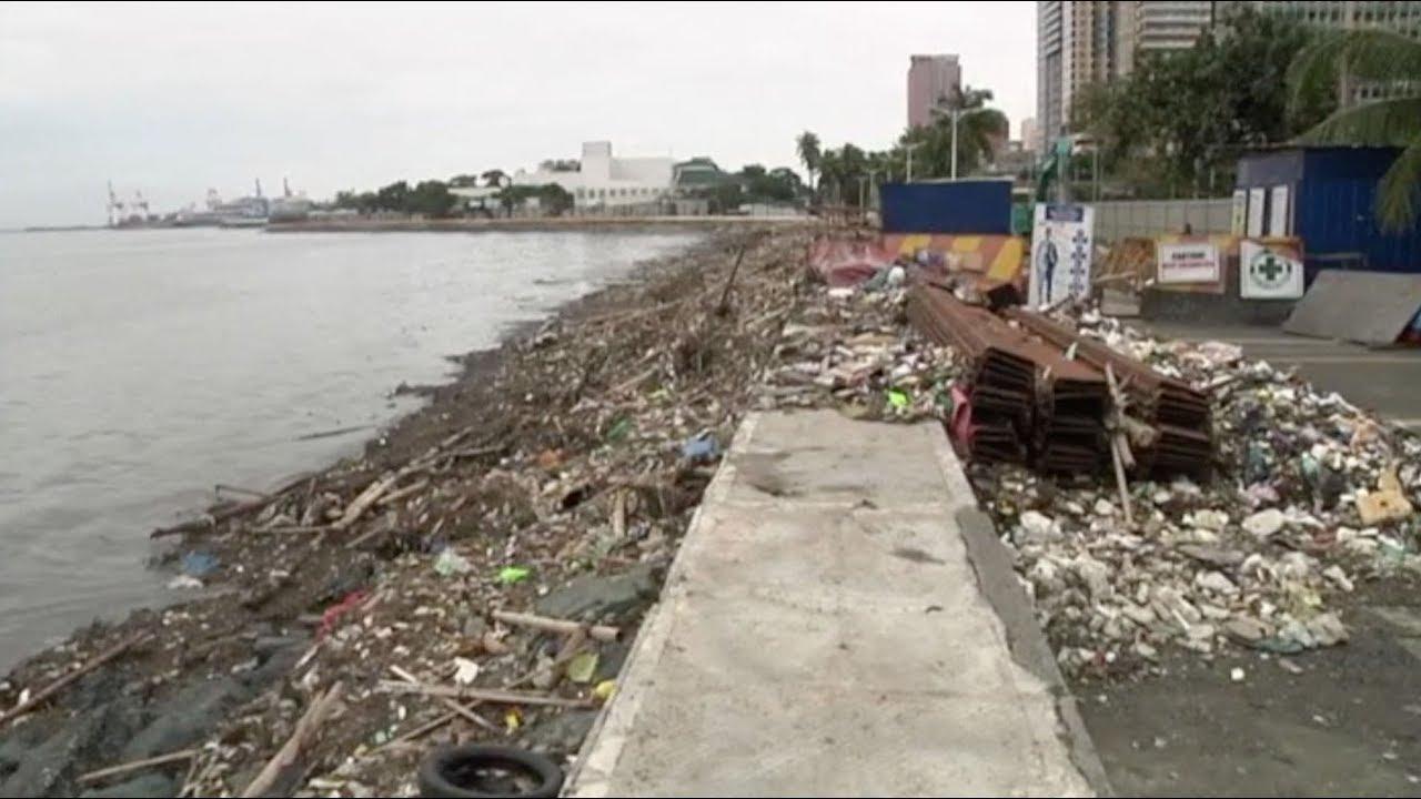 "Clean-up operation along Manila Bay following Typhoon ""Ompong"""
