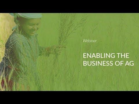 Webinar: Enabling the Business of Ag