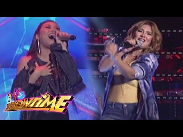 It's Showtime: Morissette Amon and Vina Morales performs on It's Showtime stage!