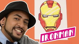 Mad Stuff With Rob - How To Draw Iron Man | DIY Drawing For Children