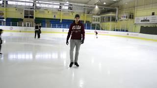 УРОКИ ПО ФИГУРНОМУ КАТАНИЮ №1  Движение лицом вперед, фонарики, змейка (Ice skating tutorial №1)