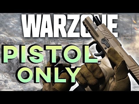PISTOL ONLY SOLO WARZONE CHALLENGE! (WIN) | Call of Duty: Warzone Highlights
