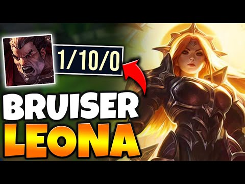 I MADE DARIUS GO 1/10 WITH MY BRUISER LEONA TOP! (THIS IS 100% BUSTED) - League Of Legends