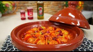 Choumicha : Tajine de boulettes de merlan | شميشة : كرات سمك الغبر بالجزر و الزيتون