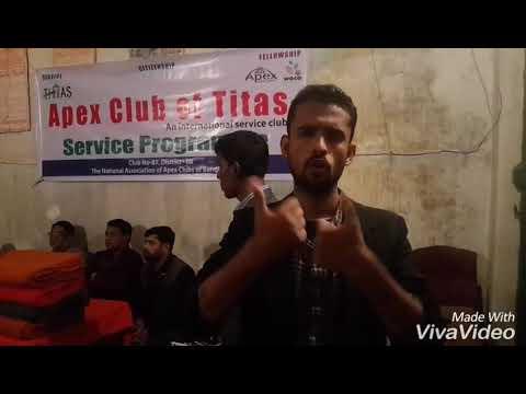 club is Blankets Distributing help 5th man of deaf poor Brahmanbaria Distinct Association of the Dea