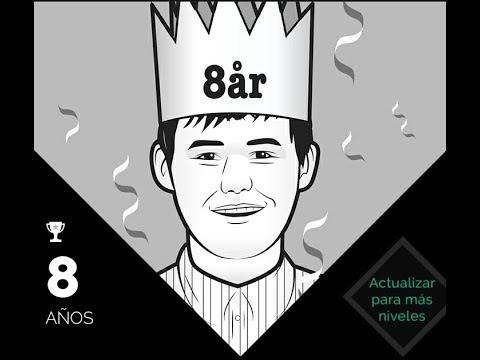 Jugando contra Magnus Carlsen (aplicación) - 8 años