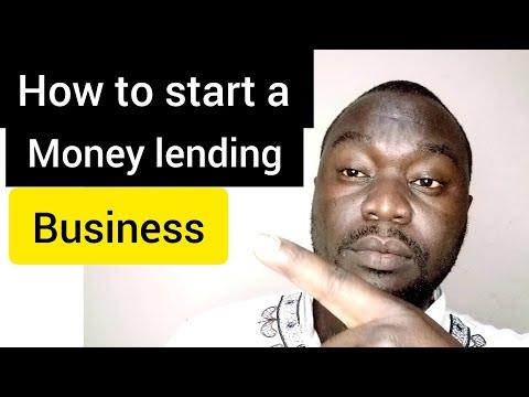 How to start money lending business