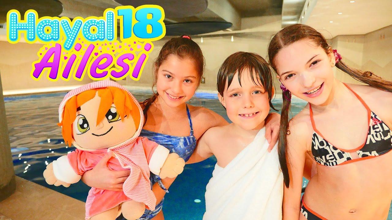 Hayal Ailesi 18. Sveta hala ile havuzda eğlence
