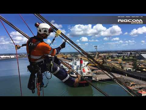 Wire Rope and Structural Inspections on Port Cranes via Rope Access