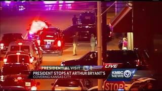 President Obama has dinner at Arthur Bryant's