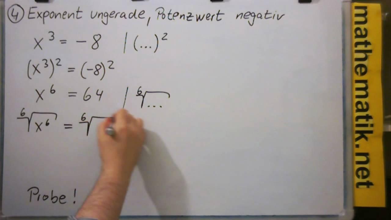Potenzgleichungen - YouTube