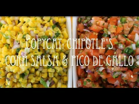 Copycat Series   Chipotle's Corn Salsa & Pico de Gallo