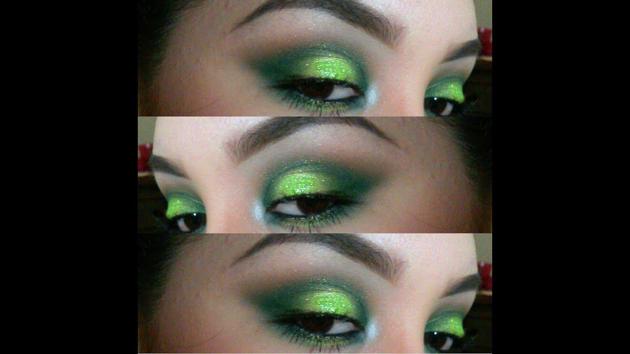 Dramatic green makeup tutorial ft shany cosmetics and nyx youtube baditri Images