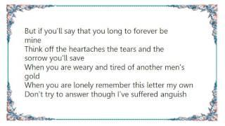 Jack Greene - The Last Letter Lyrics YouTube Videos