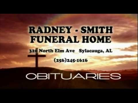 Obituaries For Oct. 6th Brought To You By Radney Smith Funeral Home...